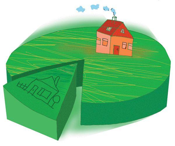 Свидетельство на право собственности купленного участка земли